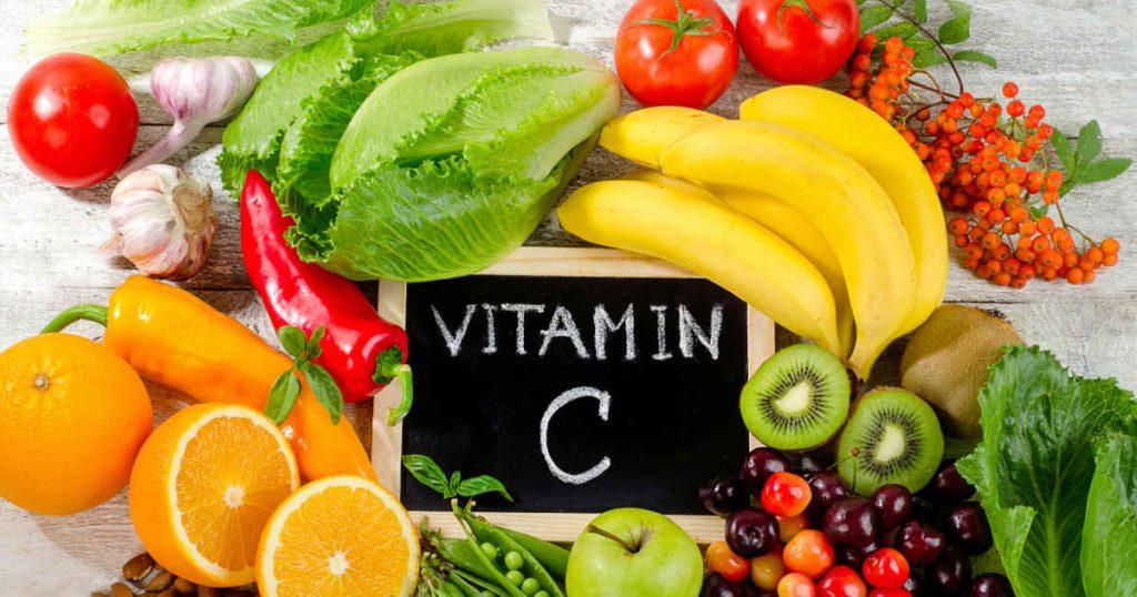 Obst und Gemüse mit viel Vitamin C